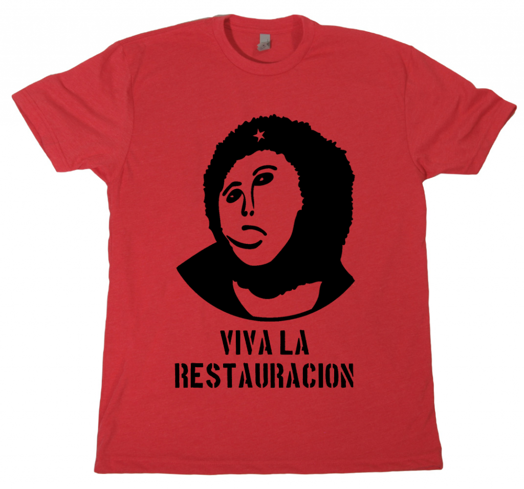 monkeyjesus withshirt 1024x955 Camiseta Viva La Restauracion