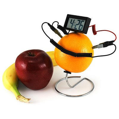 FruitPoweredClock
